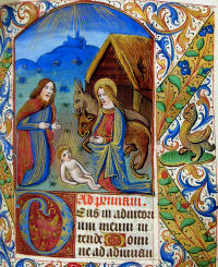 Image from MS.F.2.14, a medieval book of hours