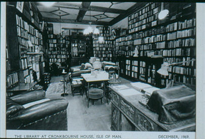 Photograph of R.G. Morton's library