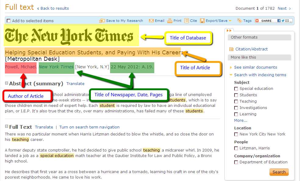 The way to be able to tell of your web site throughout MLA format through any daily news