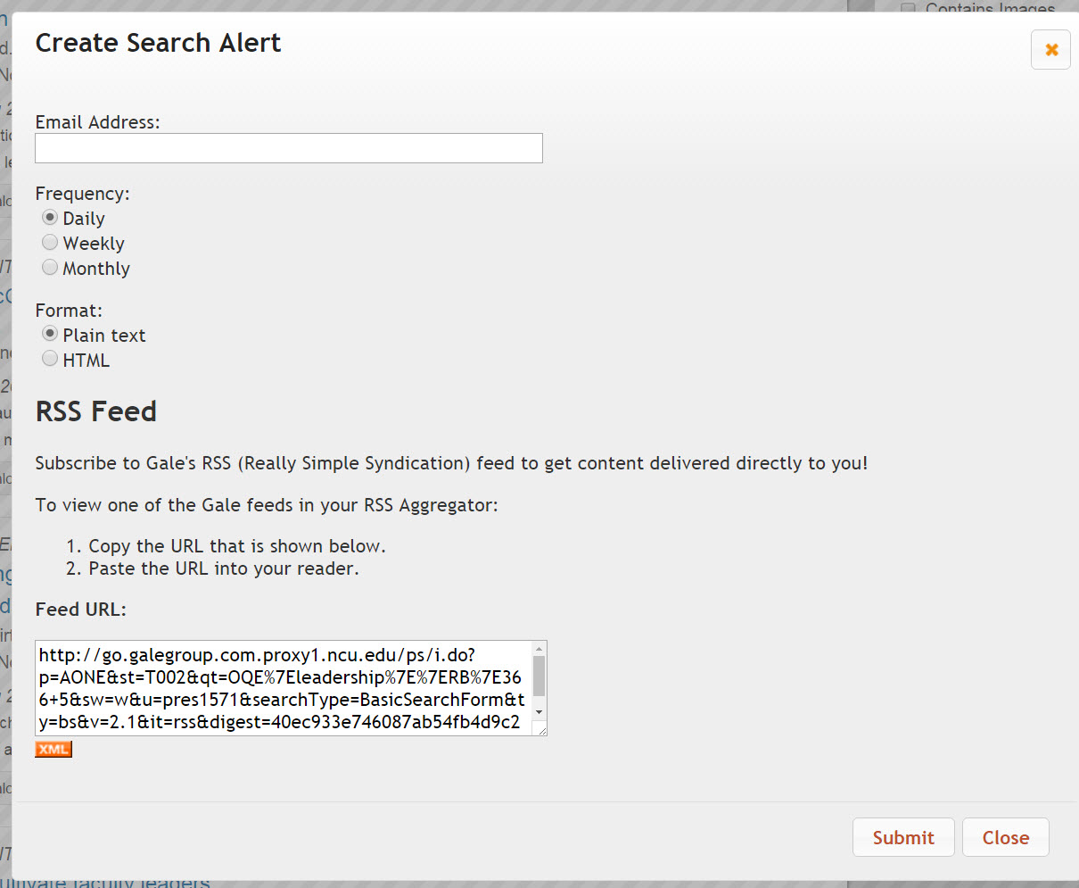Films on Demand Create Search Alert screen.