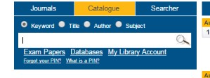 catalogue search box