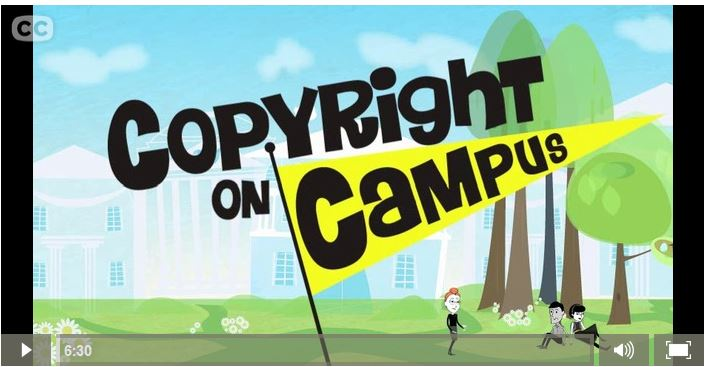 copyright on campus video screenshot