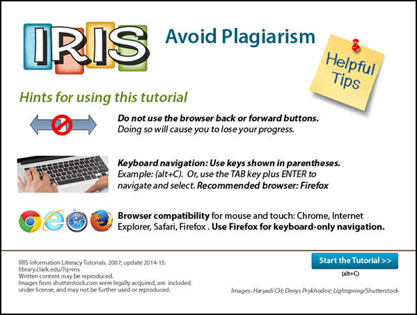 Screenshot of IRIS: Avoid Plagiarism
