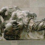 Parthenon: E. pediment: [Figs. K, L, M] Three Goddesses (Hestia, Dione, Aphrodite?), ca. 438-432 B.C.