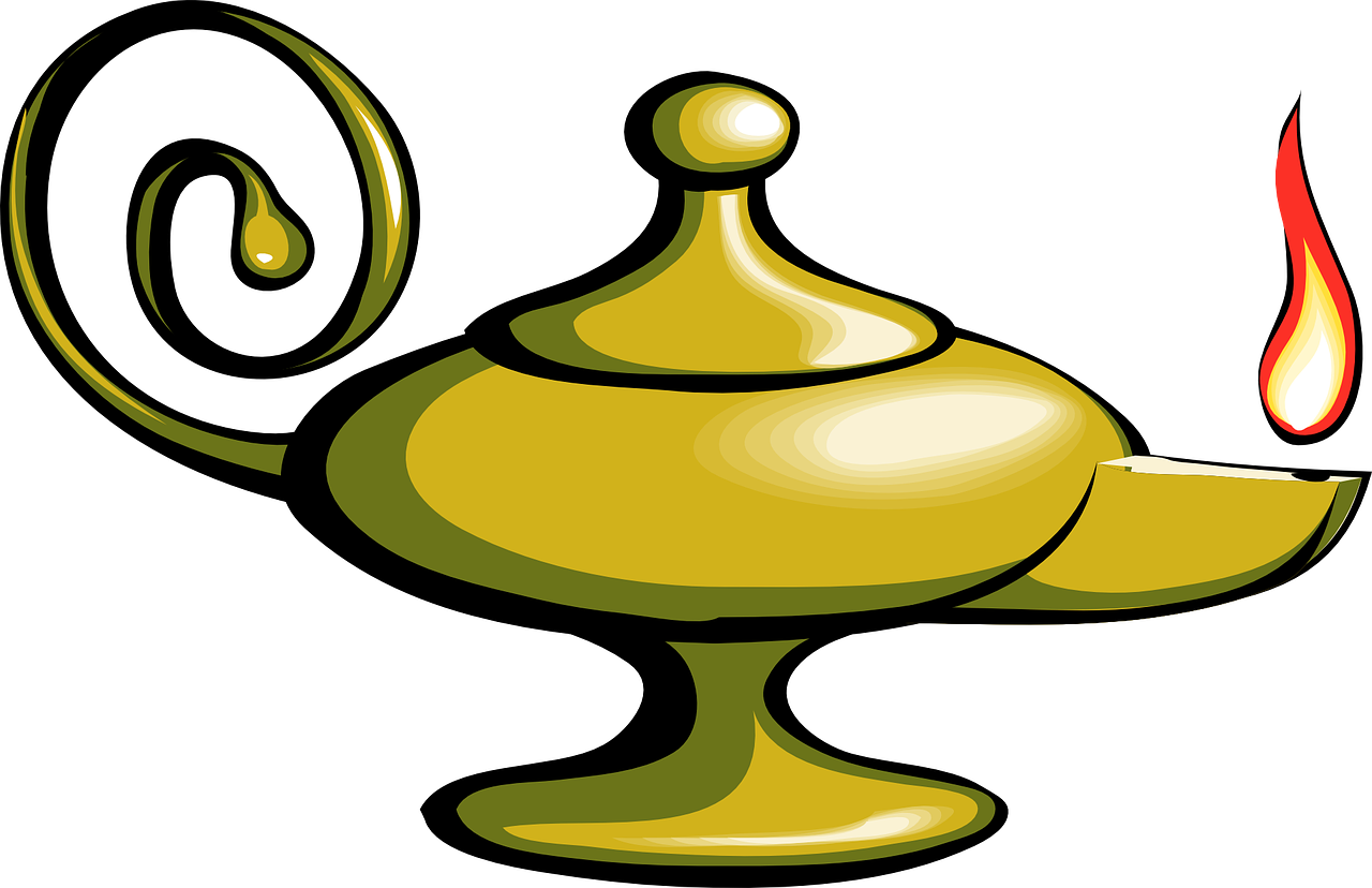 Library genie lamp