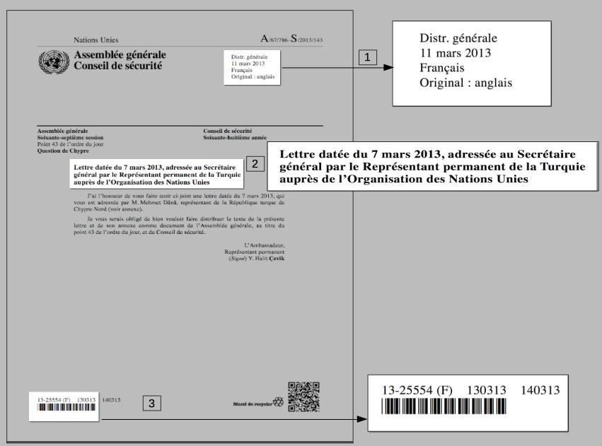 Lettres Documents De L Onu Introduction Research