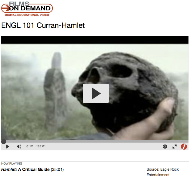 films on demand hamlet example