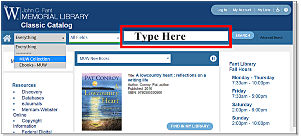 Fant Library Classic Catalog