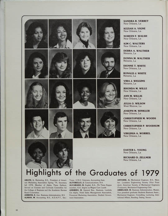 1979 - The UNiversity of New Orleans Yearbooks - Library Guides at University of New Orleans