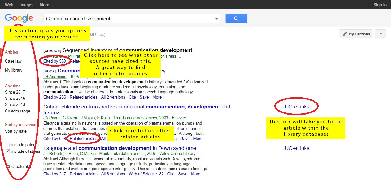 Google Scholar - Psychology 189: Brain, Behavior & Evolution