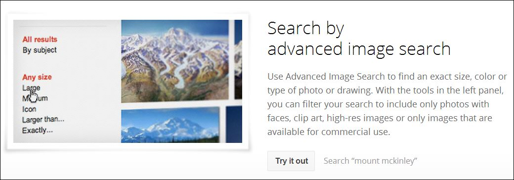 Screenshot Google Search Tips Image Search