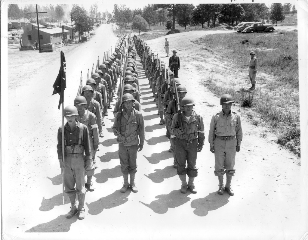Japanese American Troops Ready for Deployment