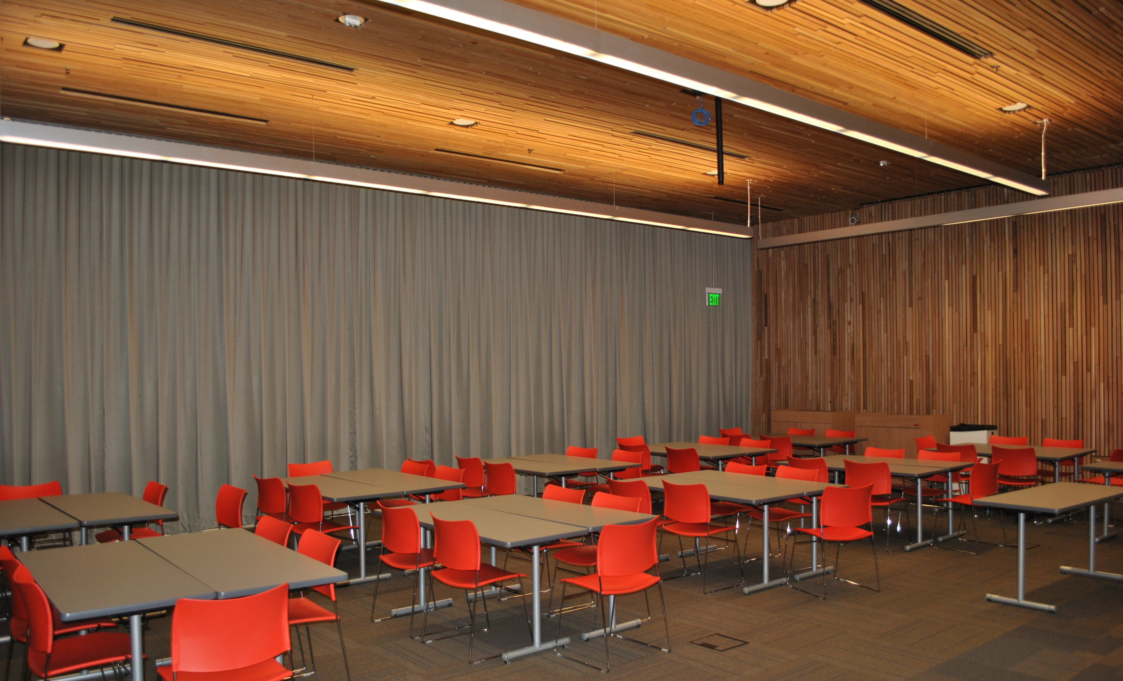 A classroom in the Music Building