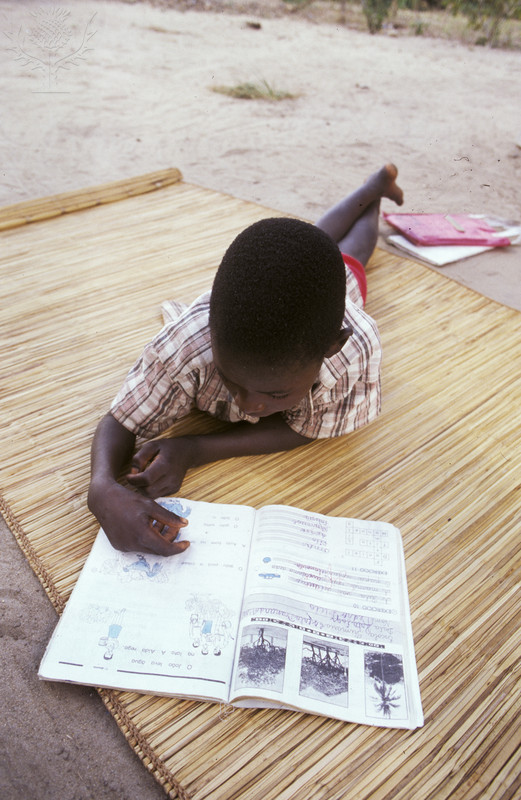 Mozambique, Mavume, Inhambane - young child reading, central Mozambique in the aftermath of 17 years of civil war, June 2002africa/mozambique/development/children/education. photo Paul Weinberg. Photo. Britannica ImageQuest, Encyclopædia Britannica, 25 May 2016.