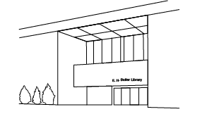 Illustration of the E. H. Butler Library