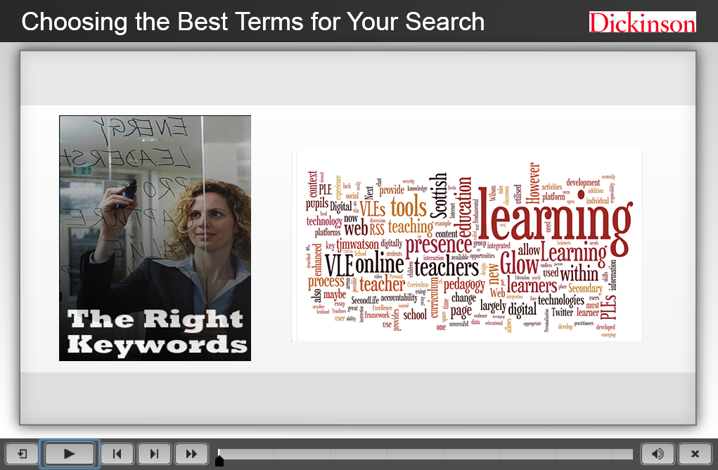 Choosing the Best Search Terms