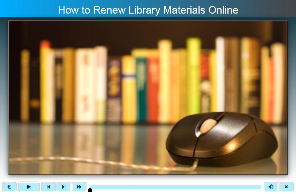 How to Renew Materials Online