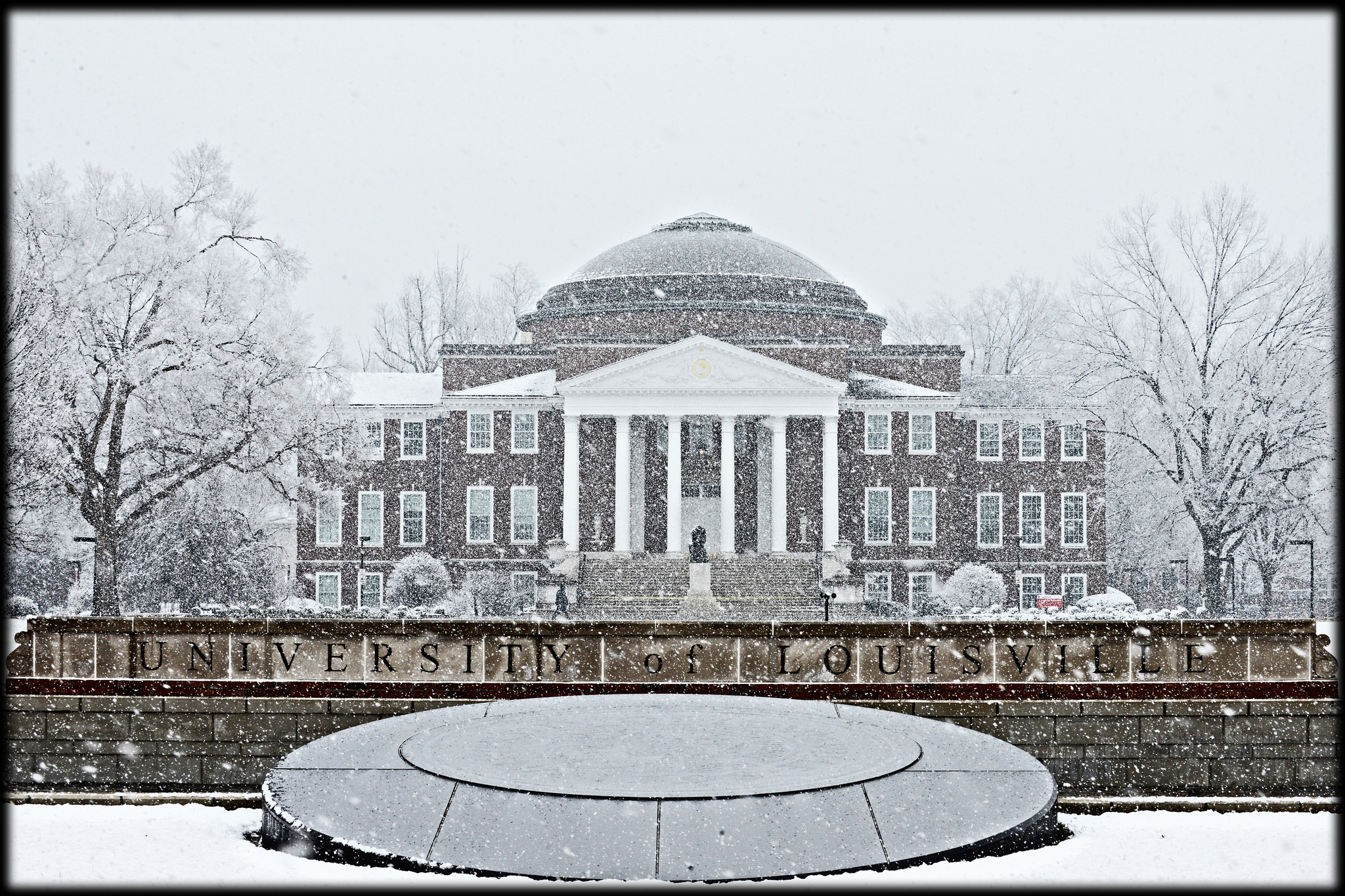 Grawemeyer Hall in winter