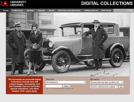 Digital Collections homepage