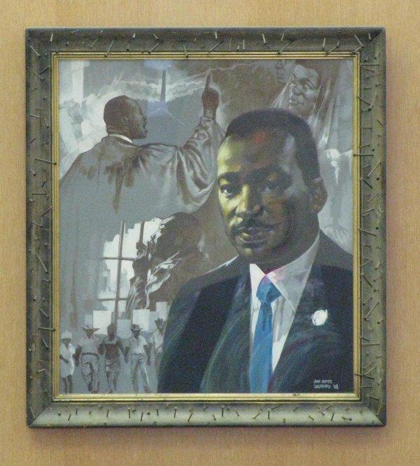 King Library MLK portrait