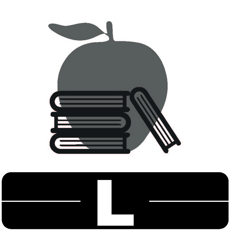 Library Icon L for Education