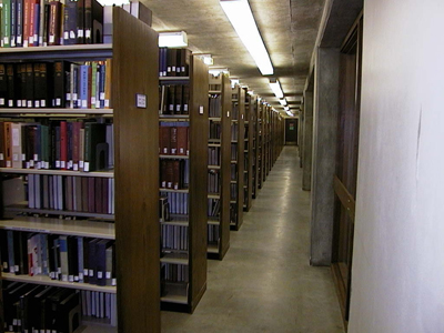 Bookstacks on the Main Level of McFarlin Library