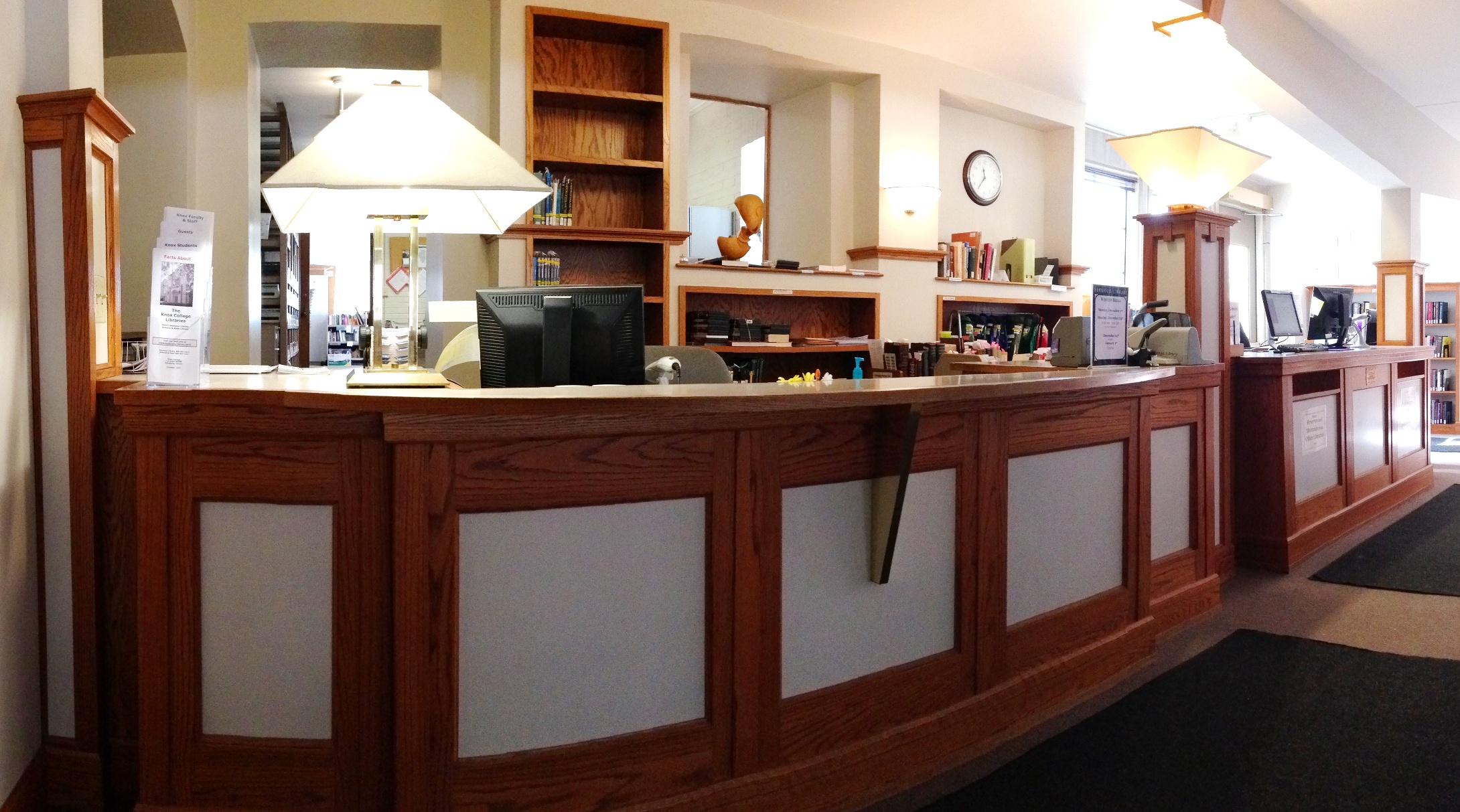 Circulation desk in Seymour Library
