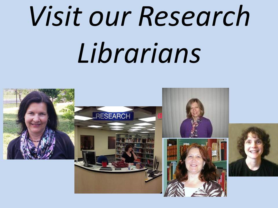 composed image of research librarians at the Blume Library