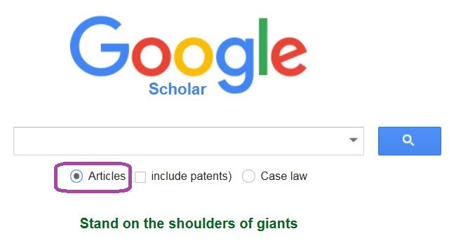 Finding Articles Using Google Scholar