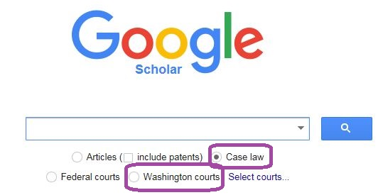 Using Google Scholar to Search for Washington State Court Opinions