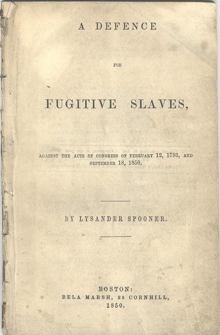 A Defence for Fugitive Slaves