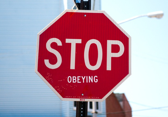 Stop Obeying stop sign
