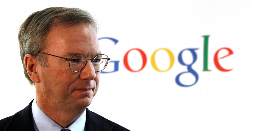 Eric Schmidt, political operative and head of Google, NSA contractor. Use Startpage.com -- gives you Google search results without the surveillance