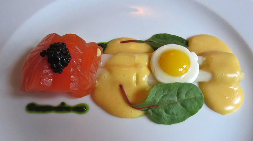 Salmon and eggs, Amsterdam