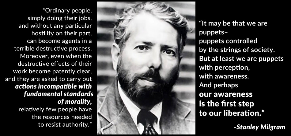 Stanley Milgram quotes