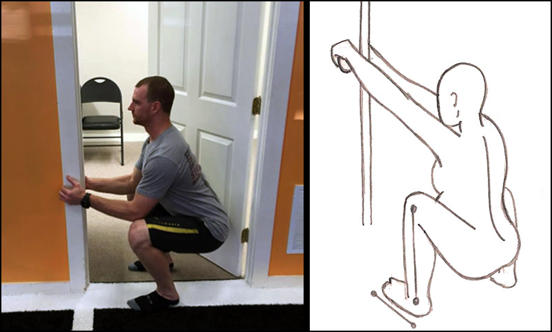 door squat form