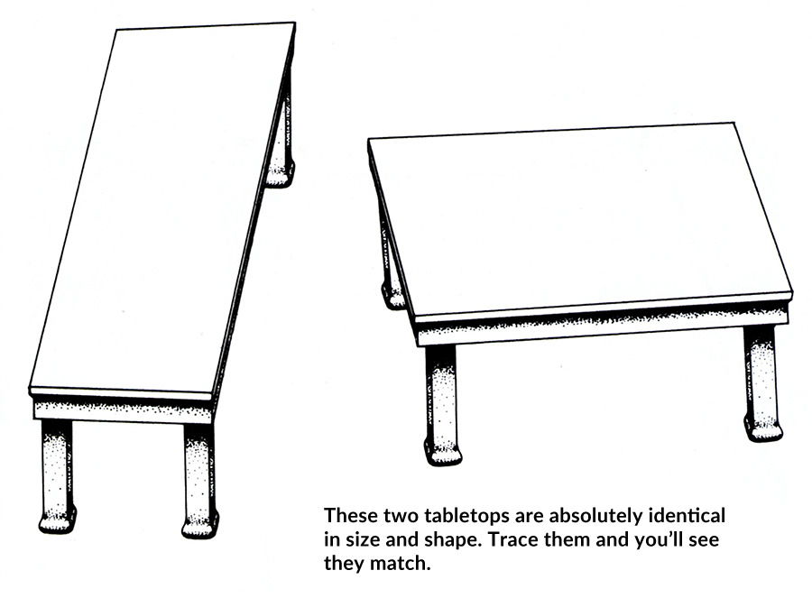 table illusion