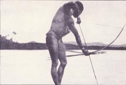 man-spearing-fish