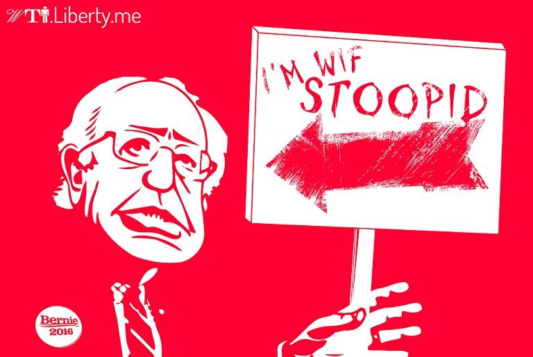 Go Home, Bernie Sanders, You're Drunk.