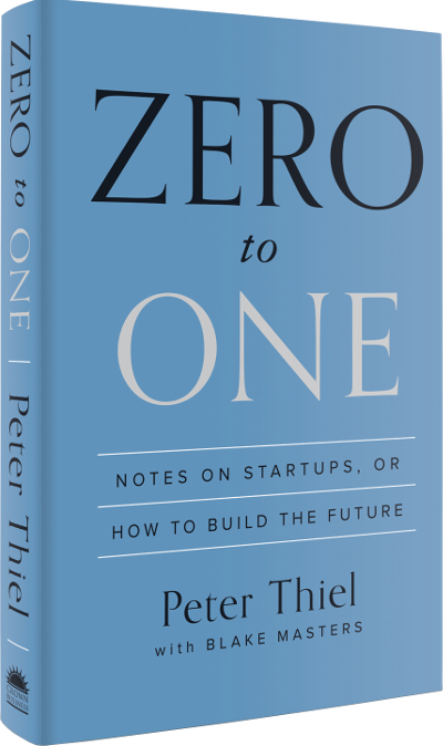 Peter Thiel: Zero to One cover