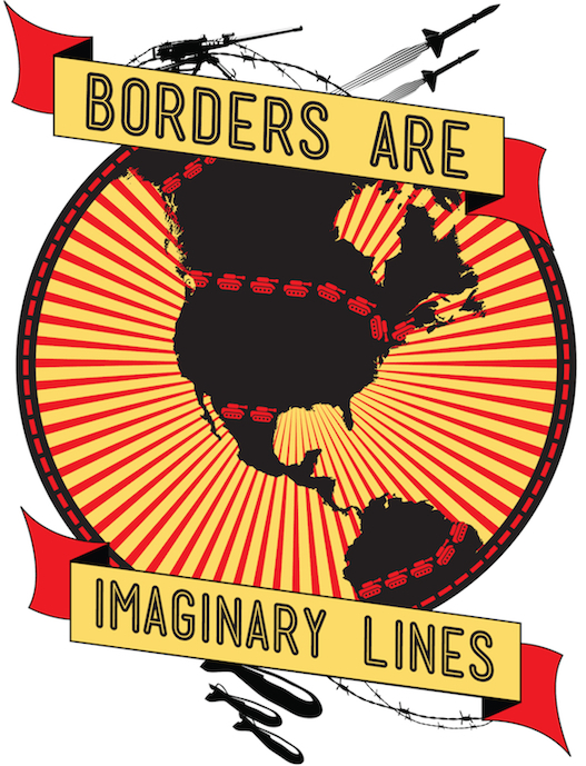 Borders are imaginary lines t-shirt