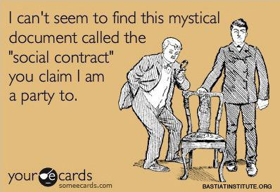 """Why the """"Social Contract"""" doesn't mean anything"""