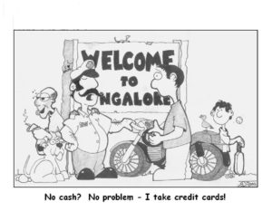 Civil servants are already finding ways around the cash shortage problem… Cartoon by Ross