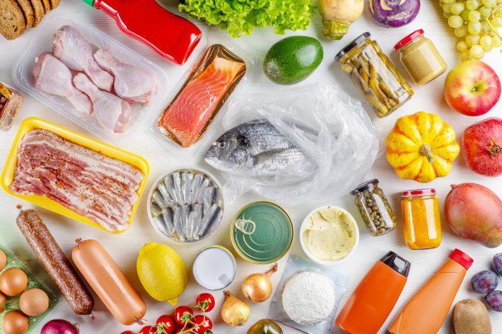 various food ingredients