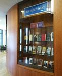 photo of new faculty books exhibit