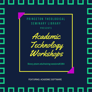 Academic Technology Workshops graphic