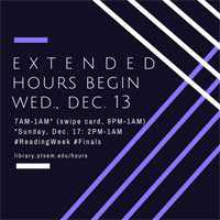 graphic that says Extended Hours Begin Wednesday, December 13