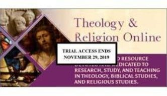 Database Trial: Theology & Religion Online