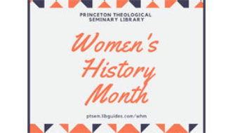 Women's History Month: Selected Reading