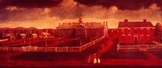 Nassau Hall (painting), by Jonathan Fisher, used with permission of the Princeton University Library
